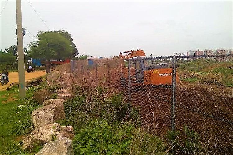 Armed with photos activists allege illegal walkway being built around Kapra Lake in Hyd