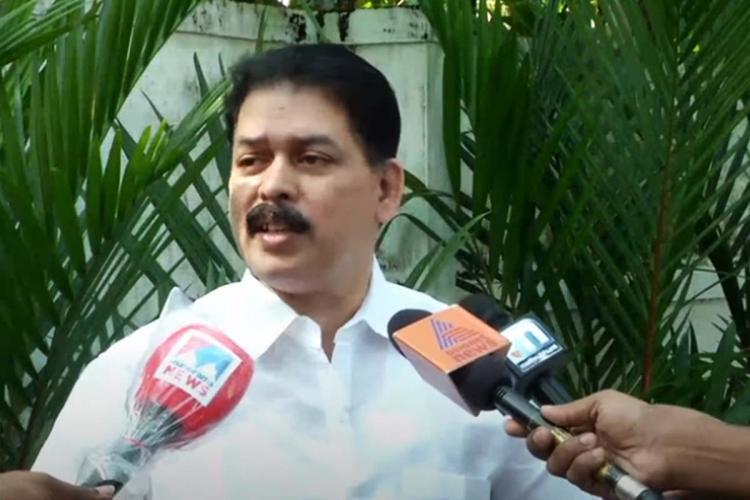 Karat Razak MLA talking to media