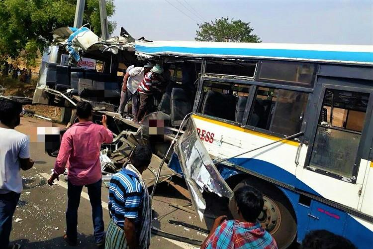 7 dead after truck rams bus in Telangana second such incident in a week