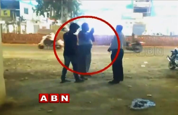 Watch Irked at being summoned right after duty Telangana cop shows up in lungi