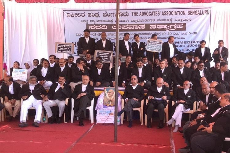 Karnataka HC lawyers go on week-long hunger strike over judicial vacancies