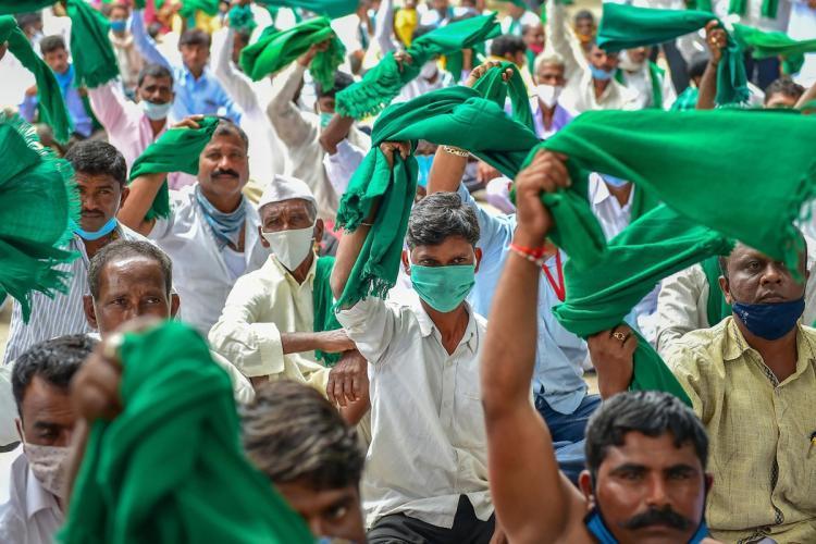 Karnataka farmer protest