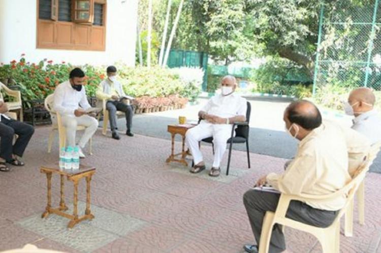 Open air meeting held by Karnatak CM BS Yediyurappa