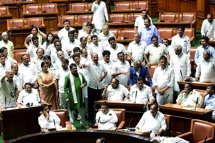 Were hungry Karnataka MLAs excuse to delay the trust vote