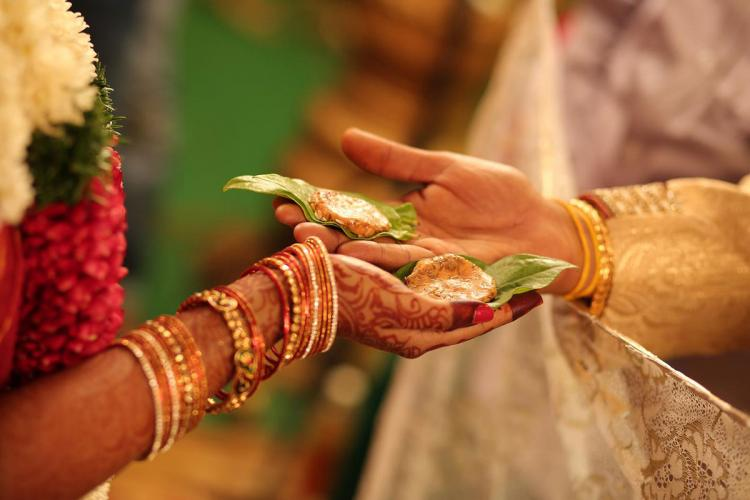 A photo from marriage ceremony