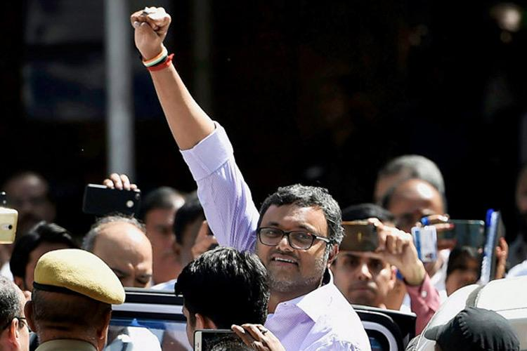Karti Chidambaram remanded in 13-day judicial custody in Inx Media case