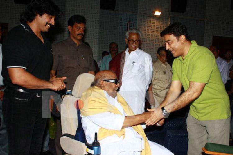 Kamal Haasan joins Marina for Kalaignar chorus says its only honourable