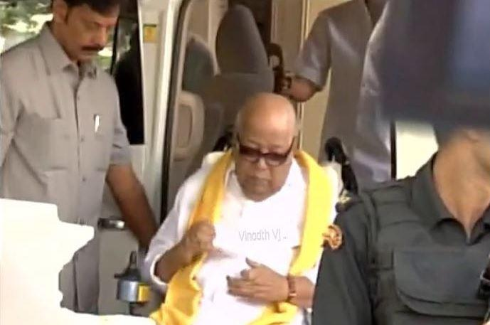 Karunanidhis masterstroke 92-year-old appears in court over Jaya govts defamation case
