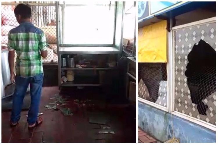 Told to stop harassing women Karnataka college students vandalise restaurant