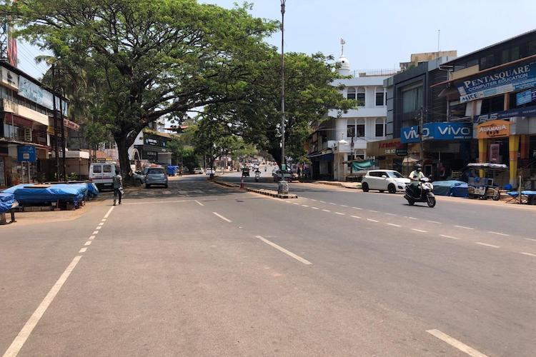 Vacant road in Kasaragod district of Kerala during COVID19 induced lockdown