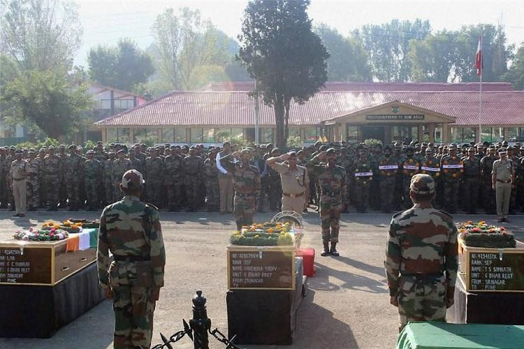 Armys 2016 death toll in Kashmir highest in six years 31 terrorists killed this year