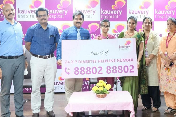 Kauvery Hospital launches diabetes helpline to answer patient queries