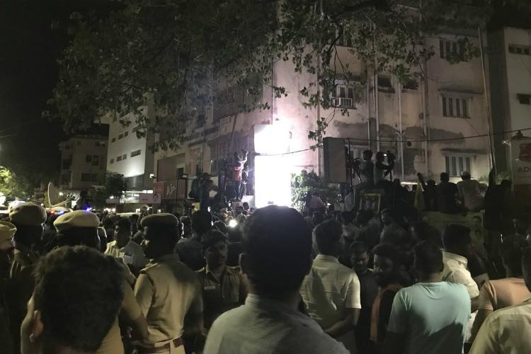Ground report Tension grips the air as Kalaignar rushed to Kauvery Hospital at midnight