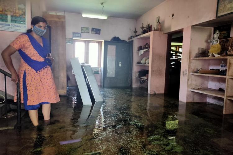 Waterlogged house in Keralas Kazhakuttam in Thiruvananthapuram