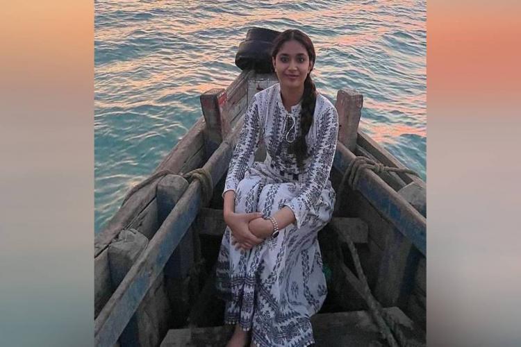 Keerthy Suresh shares throwback pics from Rameswaram during Saani Kaayidham shoot