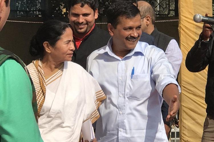 Demonetisation Mamata Kejriwal slam govt at joint rally warn of revolt if no rollback