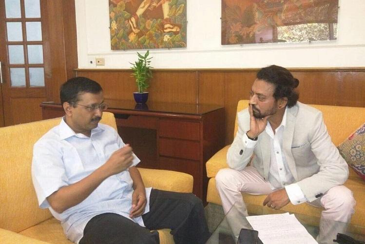 One man cant change the system Irrfan Khan after interviewing Kejriwal