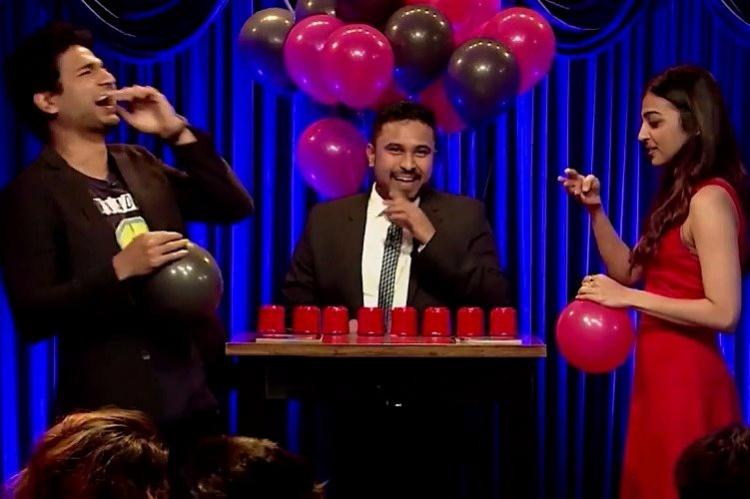 Try not to crack up as Kenny Sebastian Radhika Apte inhale helium belt cheesy film dialogues