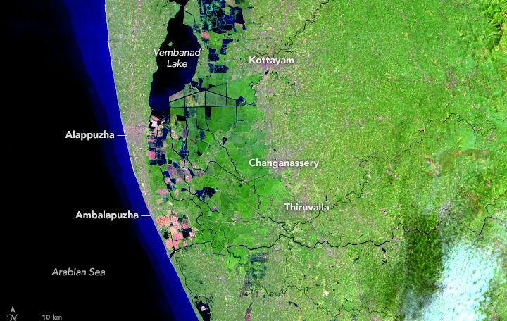 Kerala rains Before and after images taken by NASA shows magnitude of flooding