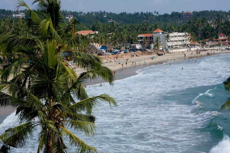 a picture of Kovalam Beach from 2008