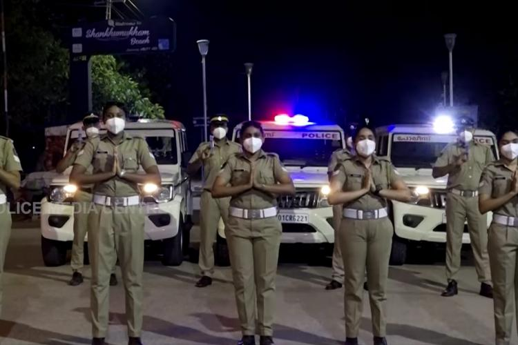Kerala Police personnel are seen dancing to Enjoy Enjaami