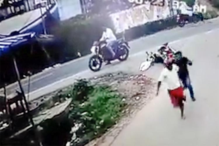 CPI M worker hacked by bike-borne assailants in Kerala video shows narrow escape