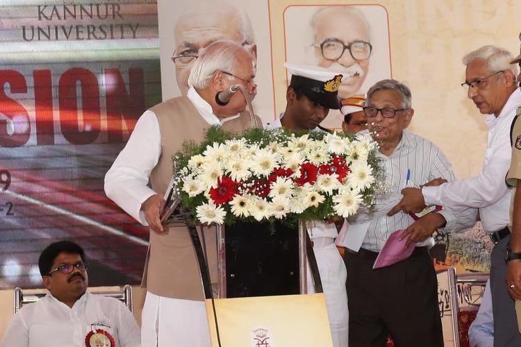 Kerala Governor faces protests accuses professor Irfan Habib of disrupting speech