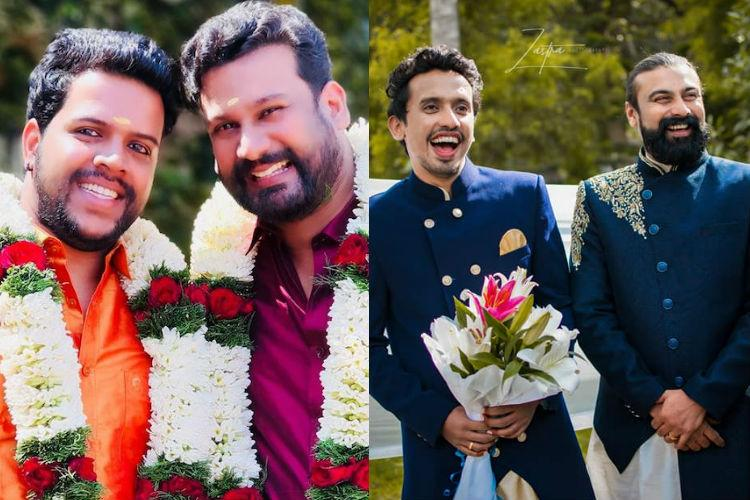 In pictures Meet the two gay couples from Kerala who recently got married