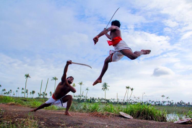 Representational image of warriors practising kalaripayattu.