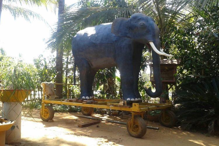 Meet Neelakandan the 250-kilo life size dummy elephant paraded in a Kerala temple