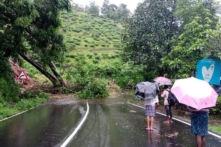 Kerala sees heavy rains Many areas flooded hundreds shifted to relief camps