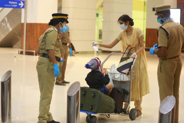 Kerala police officials deployed at kochi airport