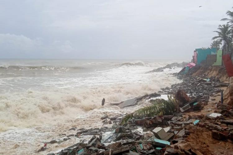 Sea erosion in Thiruvananthapuram