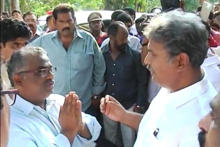 As video surfaces Vijayawada MP MLA apologise for misbehaving with Transport Commissioner