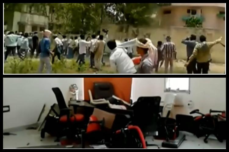 Desperate Telangana chilli farmers go on rampage and destroy Khammam market yard