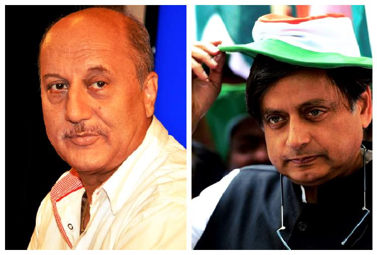 Tharoor and Kher lock horns over scared to openly say I am a Hindu comment