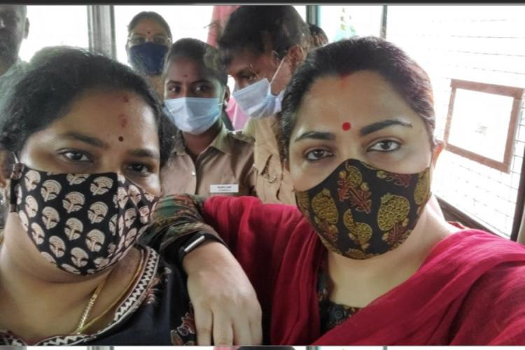 Khushboo detained on her way to protest in Chidambaram against Thirumavalavan