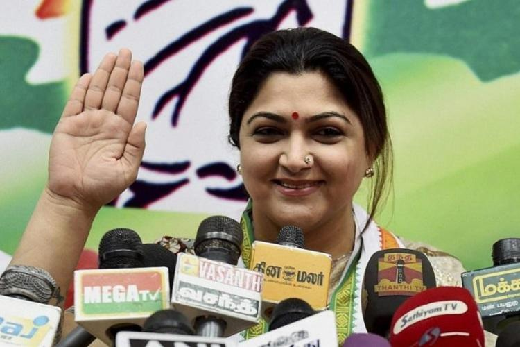 Actor Khushboo likely to join the BJP leave Congress behind