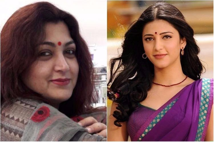 Months after Shruti Haasan walked out of Sangamitra Khushbu lashes out at actor