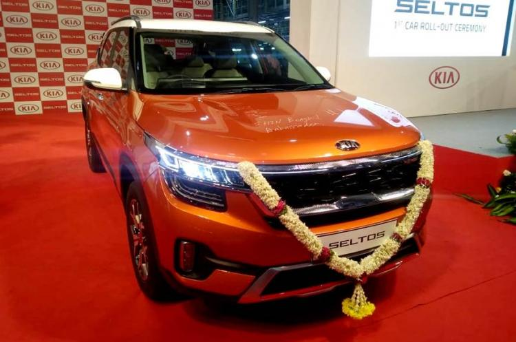 Seltos Kia Motors first car manufactured for India rolls out of Andhra plant