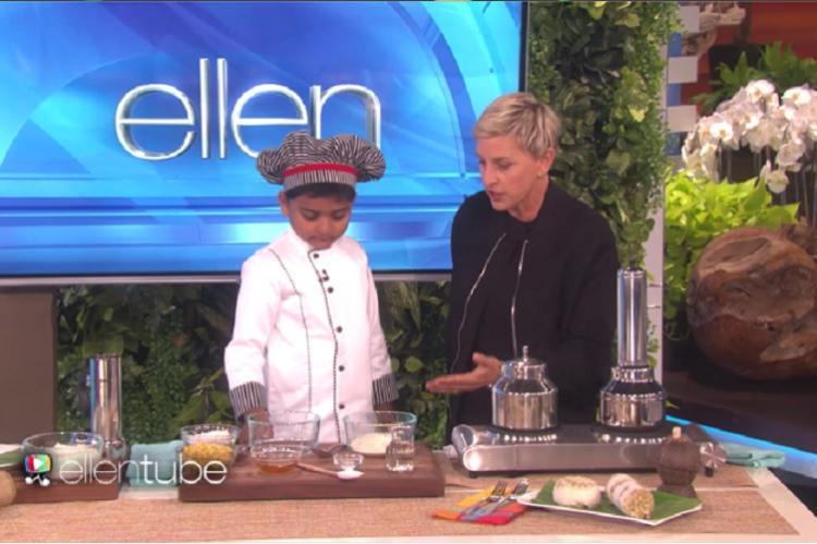 Puttu power Six-year-old Kicha makes Keralas traditional breakfast for Ellen Degeneres