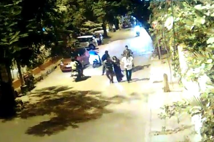 Shocking CCTV footage shows two men dragging a woman on a Hyderabad road but no one helped