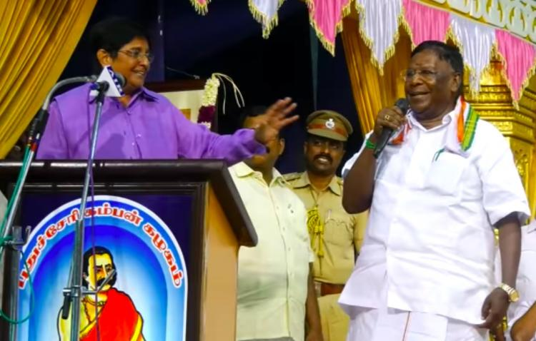 I trust you for next 10 mins Puducherry Lt Gov Kiran Bedi and CMs temporary truce