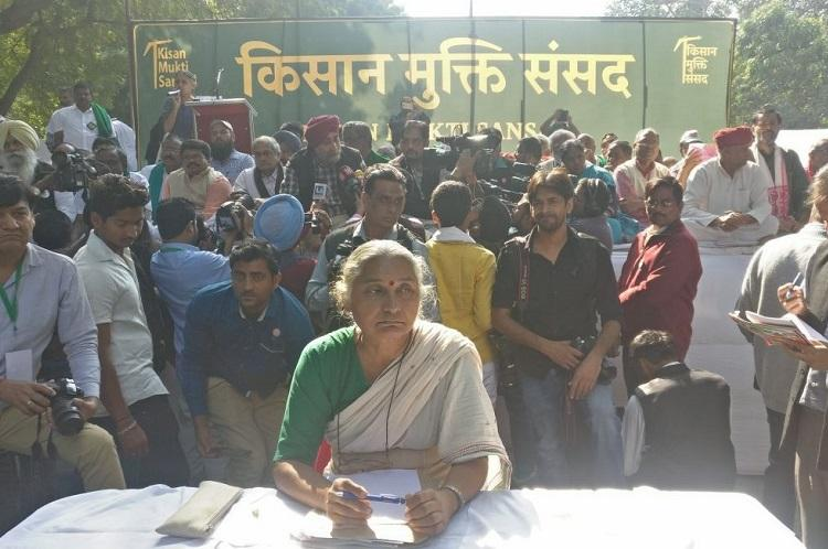 Farmers from across the country congregate in New Delhi to hold mock parliament