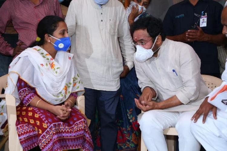 Union Min Kishan Reddy visits Col Santhosh Babus kin in Telangana offers condolences