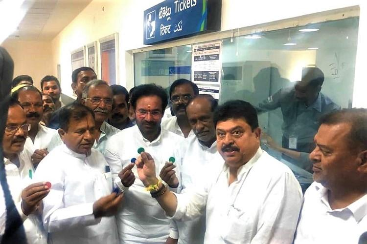 Why leave old city out of Hyderabad metro project Kishan Reddy slams TRS AIMIM