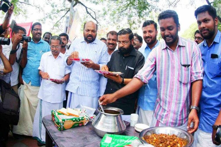 Beef fests held across Kerala in protest people turn out in large numbers