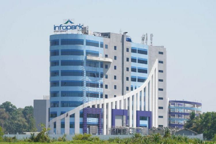 The main building of the Kochi Infopark