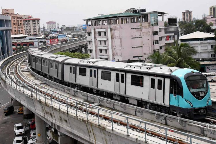 A Kochi Metro train service