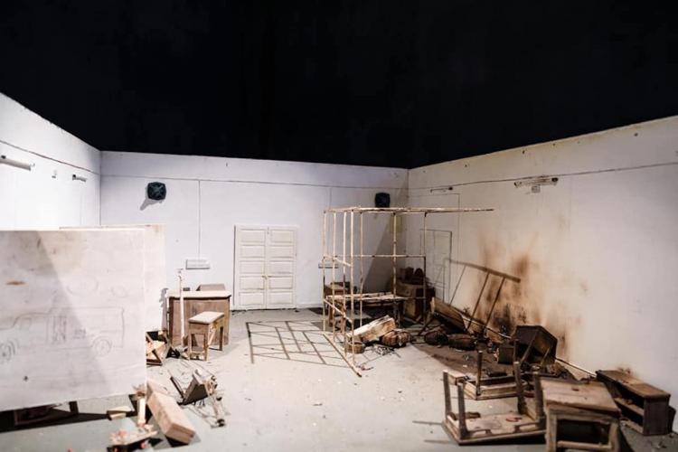 Art installation at Kochi Biennale